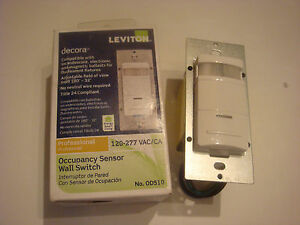 Leviton Occupancy Sensor Wall Switch r52 ods10 ihw never Used