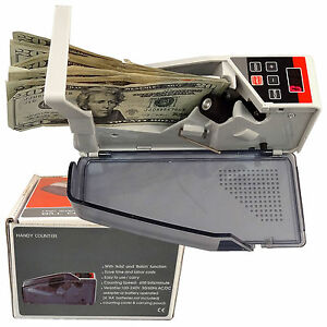 Us Seller Portable Mini Cash Count Money Currency Counter Counting V40 All Bill
