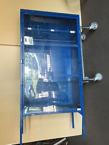 Enclosed Metal Storage Clothing Rack Locker Plexi bl721