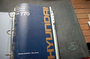 Hyundai Hl770 Front End Wheel Loader Repair Shop Service Manual Book Overhaul Sn