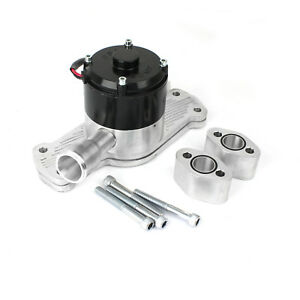 Chevy Sbc 350 40 Gpm Slimline Electric Water Pump Polished