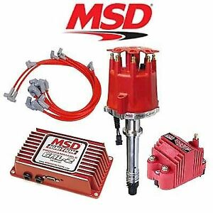 Msd Ignition Kit Programmable 6al 2 distributor wires coil Chevy Small Block