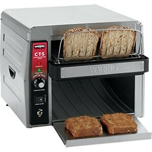 Waring Heavy Duty Commercial Cts1000 Stainless Steel Conveyor Toaster