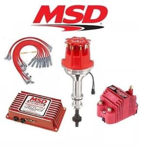 Msd Ignition Kit Programmable 6al 2 distributor wires coil Ford 302 Small Cap