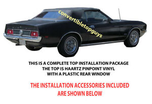 Ford Mustang Mercury Cougar Convertible Top Do It Yourself Package 1971 1973