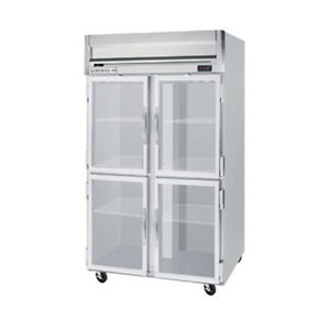Beverage Air Hrp2hc 1hg Half Glass Door Two section Reach in Refrigerator