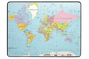 Durable World Map Desk Pad 15 75 X 20 75 X 07 Inches Multicolored Dbl721119
