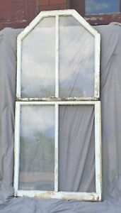 Antique Double Hung Arch Dome Top Window 2 Piece Old Shabby Rhombus Chic 1170 16