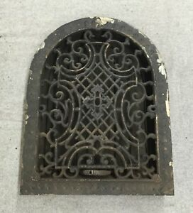 Antique Cast Iron Arch Top Victorian Dome Heat Grate Wall Register 9x12 1180 16