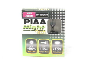 Piaa 9007 hb5 Night Tech White Halogen Headlight Light Bulbs Twin Pack 3600k