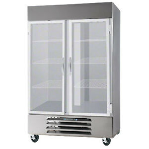Beverage Air Rb49hc 1g Glass Door Two Section Reach in Refrigerator