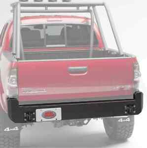 Bumper Body Armor 4x4 Bolt On Rear Bumper W Shackle Plates For Toyota Tacoma
