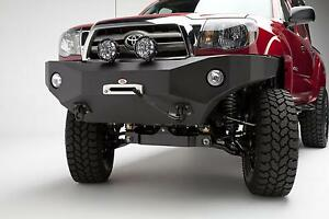 Bumper Body Armor 4x4 Black Front Bumper With Winch Plate For Toyota Tacoma
