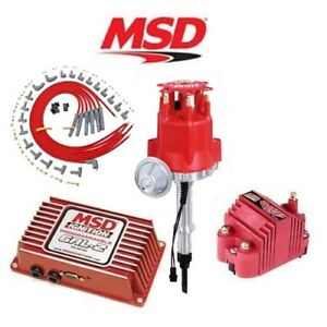 Msd 9262 Ignition Kit Programmable 6al 2 Distributor Wires Coil Chevy Inline 6