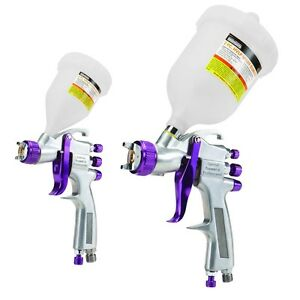 2 Pc Professional Automotive Hvlp Spray Gun Kit Free Shipping
