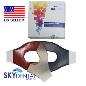 Red Blue Articulating Paper Horseshoe 89 Microns 12 Books box