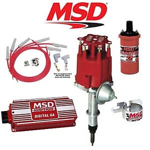 Msd 90121 Ignition Kit Digital 6a Distributor Wires Coil Chevy Inline 6 Cyl