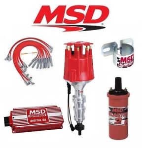 Msd 90251 Ignition Kit Digital 6a distributor wires coil Ford Fe 360 390 427 428