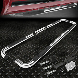 For 99 11 Chevy ram gmc Ext crew Cab Chrome 3 side Step Nerf Bar Running Board