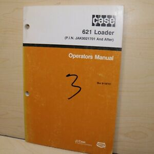 Case 621 Front End Wheel Loader Owner Operator Maintenance Manual Book 1991 User