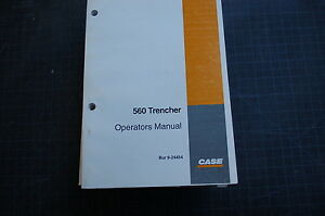Case 560 Trencher Owner Operator Maintenance Manual Book 1995 1999 Guide Safety