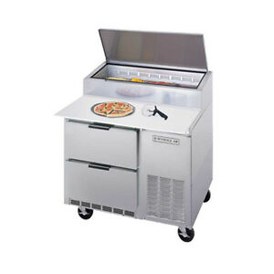 Beverage Air Dpd46hc 2 46 Refrigerated Pizza Prep Table W Drawers