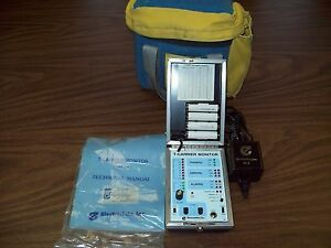 Electrodata Tm 1 T carrier Monitor E w soft Case power Supply manual