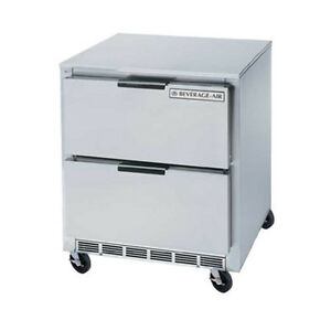 Beverage Air Ucrd27ahc 2 27 Undercounter Reach in Refrigerator W Drawers