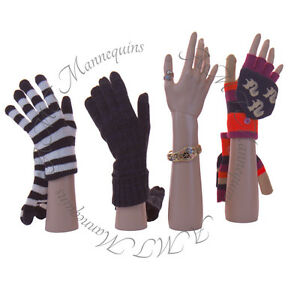 Female Mannequin Hands display Jewelry Bracelet gloves Left right a Pair Hands