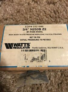 Watts 0321986 Water Pressure Reducing Valve And Strainer