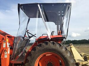 Custom Built 4 sided Farm Spray Tractor Cab you Supply Plywood Top
