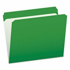 Pendaflex File Folder Straight Top Tab Letter Green 100 box pfxr152bgr