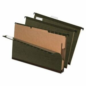 Pendaflex Hanging Folder W Dividers Legal 4 Section Green 10 box pfx59354