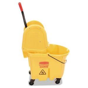 Rubbermaid 757788 Wavebrake 35 Quart Mop Bucket wringer Yellow rcp757788yw