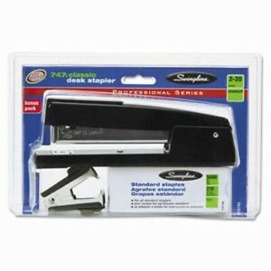 Swingline 747 Classic Stapler Value Pack W staples Remover Black swi74793