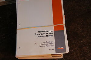 Case Tf 300b Trencher Parts Manual Book Catalog Spare Ditcher Davis Task Force