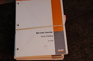 Case 860 Turbo Trencher Parts Manual Book Catalog Spare Ditcher Plow Tractor Oem