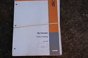 Case 760 Trencher Parts Manual Book Catalog Spare Ditcher Plow 1995 Chain List