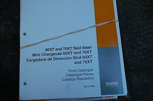 Case 60xt 70xt Mini Skid Steer Loader Parts Manual Book Catalog Spare List 2001