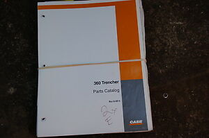Case 360 Trencher Parts Manual Book Catalog Spare Ditcher Plow Tractor List