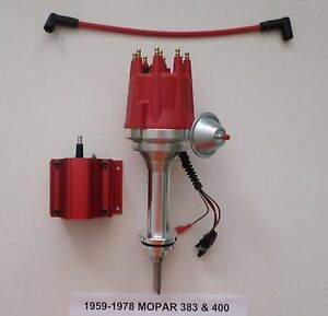 Small Cap Big Block Mopar 1959 78 383 400 Pro Series Hei Red Distributor Coil