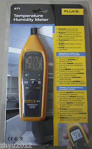 1pcs Fluke 971 Temperature Humidity Meter Tester Psychrometer 99 Record Capacity