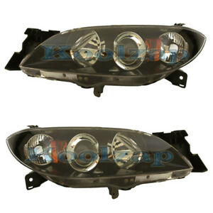 04 09 Mazda 3 Sedan Headlight Headlamp Head Light Lamp Left Right Side Set Pair