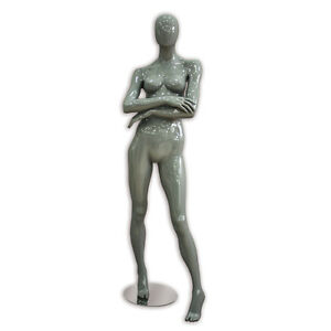 Female Abstract Mannequin Women Fashion Clothing Display Store Fixture Gray New