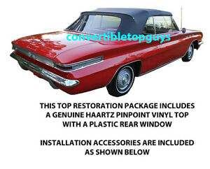 Buick Skylark Gran Sport 46 Special Convertible Top Package 1962 1963