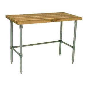 John Boos Jnb11 Wood Top Work Table 96 w X 30 d
