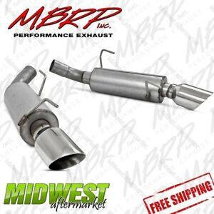 Mbrp Dual Mufflers Axle Back Split Rear Fits 2005 2010 Ford Mustang Gt V8 5 0l