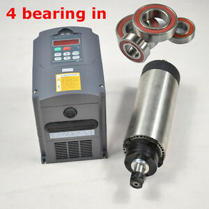 Cnc Four Bearing Er11 1 5kw Air coole Spindle Motor And Matching Inverter