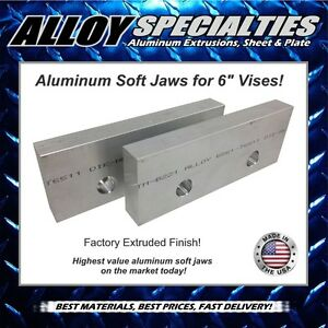1 X 3 X 8 Extruded Aluminum Soft Jaws For 6 Kurt Vise Chick Te co Toolex