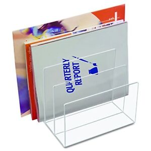 New Kantek Acrylic File Sorter 8 X 6 1 2 X 7 1 2 Inches Clear Ad45 Ships Free